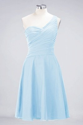 A-Line One-Shoulder Sweetheart Sleeveless Knee-Length  Bridesmaid Dress with Ruffles_22