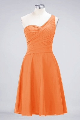 A-Line One-Shoulder Sweetheart Sleeveless Knee-Length  Bridesmaid Dress with Ruffles_15