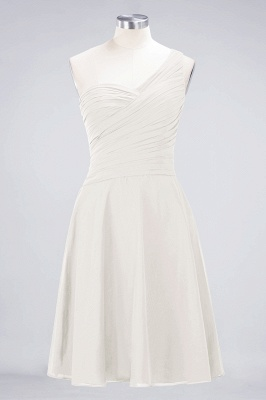 A-Line One-Shoulder Sweetheart Sleeveless Knee-Length  Bridesmaid Dress with Ruffles_2