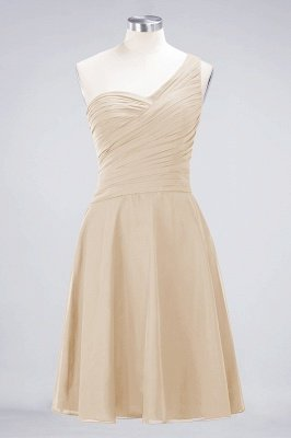 A-Line One-Shoulder Sweetheart Sleeveless Knee-Length  Bridesmaid Dress with Ruffles_14