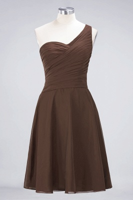 A-Line One-Shoulder Sweetheart Sleeveless Knee-Length  Bridesmaid Dress with Ruffles_12