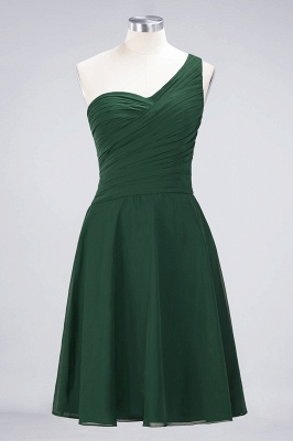 A-Line One-Shoulder Sweetheart Sleeveless Knee-Length  Bridesmaid Dress with Ruffles_30