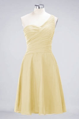A-Line One-Shoulder Sweetheart Sleeveless Knee-Length  Bridesmaid Dress with Ruffles_17