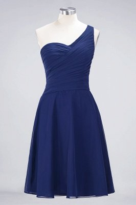 A-Line One-Shoulder Sweetheart Sleeveless Knee-Length  Bridesmaid Dress with Ruffles_25
