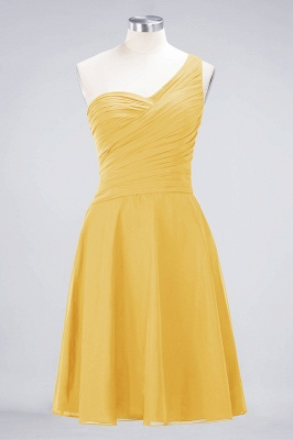 A-Line One-Shoulder Sweetheart Sleeveless Knee-Length  Bridesmaid Dress with Ruffles_16