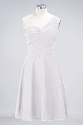A-Line One-Shoulder Sweetheart Sleeveless Knee-Length  Bridesmaid Dress with Ruffles_1