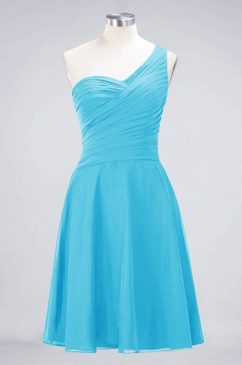 A-Line One-Shoulder Sweetheart Sleeveless Knee-Length  Bridesmaid Dress with Ruffles_23