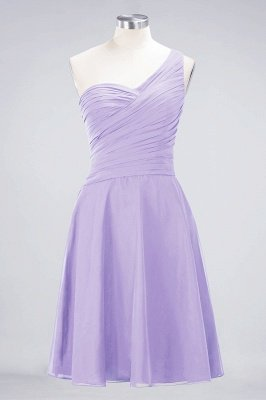 A-Line One-Shoulder Sweetheart Sleeveless Knee-Length  Bridesmaid Dress with Ruffles_20