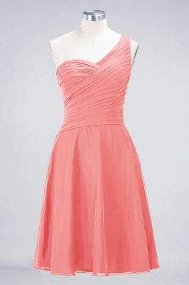 A-Line One-Shoulder Sweetheart Sleeveless Knee-Length  Bridesmaid Dress with Ruffles_7