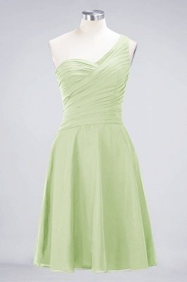 A-Line One-Shoulder Sweetheart Sleeveless Knee-Length  Bridesmaid Dress with Ruffles_33