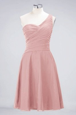 A-Line One-Shoulder Sweetheart Sleeveless Knee-Length  Bridesmaid Dress with Ruffles_6