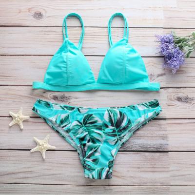Women Triangle Floral Print Sexy Bikini Set_8