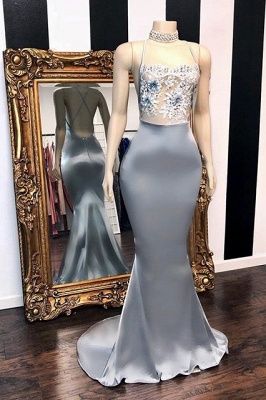 Sexy Sequins Sleeveless Mermaid Prom Dresses | Glitter 2019 Halter Red Evening Gowns_1