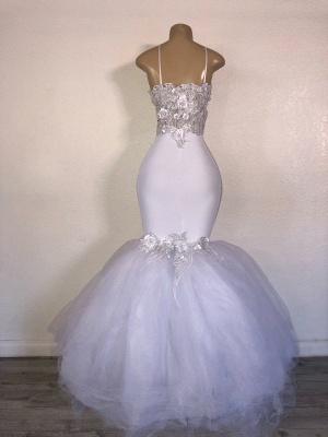 Mermaid Strapless  Applique Elegant Long Prom Dress_2