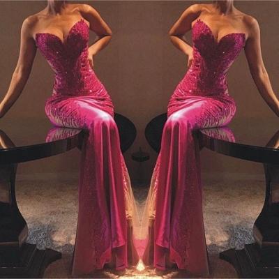 Sexy Sheath Sweetheart Appliques Cheap Long Prom Dress_2