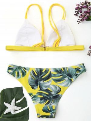 Women Triangle Floral Print Sexy Bikini Set_10