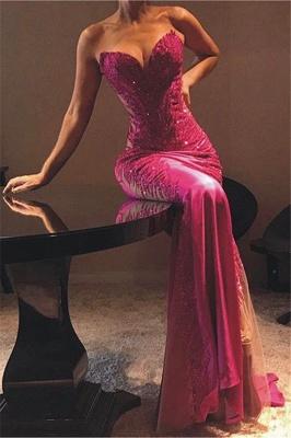 Sexy Sheath Sweetheart Appliques Cheap Long Prom Dress_1