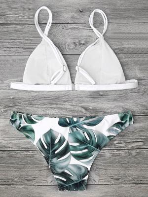 Women Triangle Floral Print Sexy Bikini Set_20