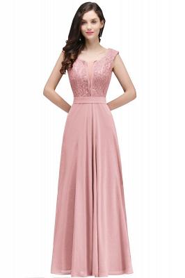 Elegant Lace A-line Long Burgundy Prom Dress_1