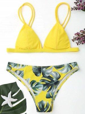 Women Triangle Floral Print Sexy Bikini Set_16