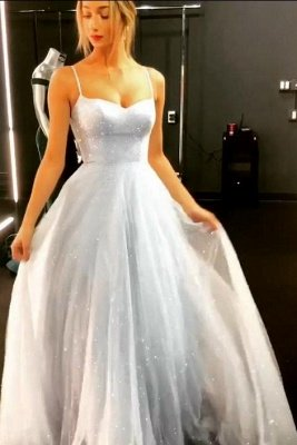 Sparkly Backless Dress  Floor Length Prom Dresses   Cheap Long Evening Gowns on Sale_3