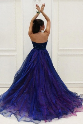 Prom Dresses Low Halter Beading A-Line Brilliant  High Evening Dresses_5