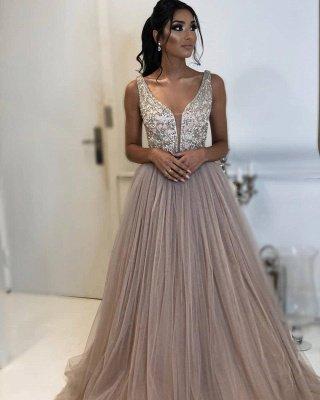 Elegant A-line Sleeveless Applique  Long Prom Dress_2