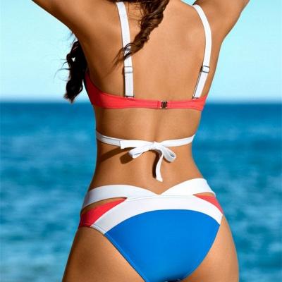 Mix Colors Bandage Straps High Waist Sexy Bikini Swimsuits_6