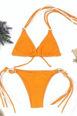 Triangle Pads Halter Straps Multicolor Two Piece Sexy Bikini Sets_3