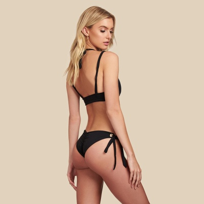 Black Bandage Modern Two Piece Sexy Bikini Swimwear_4