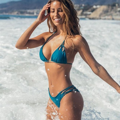 Halter Pads Spaghetti Straps Two Piece Sexy Bikini Sets_7