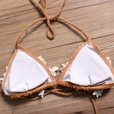 Shiny Sewing Diamonds Push-up Bra Triangle Sexy Bikini Swimsuits_5