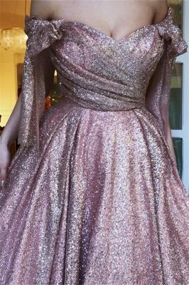 Glamorous Off-The-Shoulder Sequins  Evening Dress_2