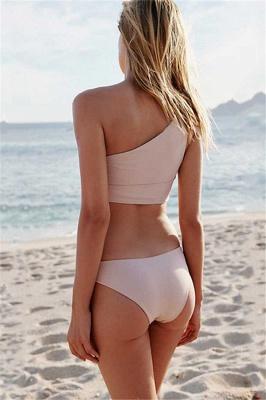 Casual One-shoulder Ribbon Bow Two Piece Sexy Bikini Sets_6