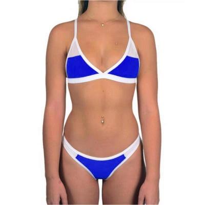 Triangle Pads Colorful Plain Sheer Net Sexy Bikini Sets_10