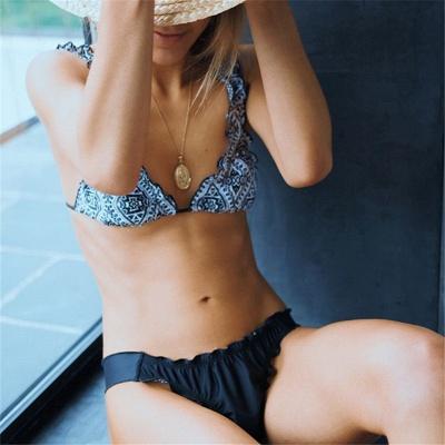 Patterns Ruffled Straps Two Piece Sexy Bikini Sets_3