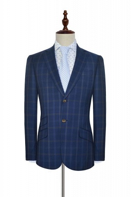 Dark Blue Wool Shawl Collar Wedding Suit For Groom | New Arriving Single Breasted Tailor Made Men Suit_3