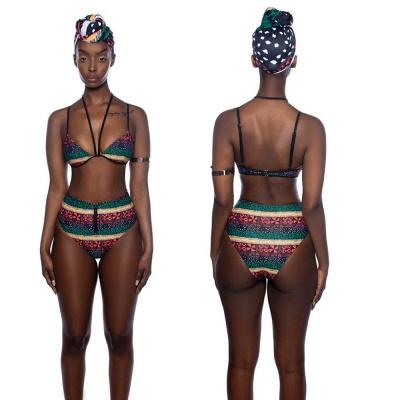 Tribal Prints Straps Two-piece Sexy Bikini Set with Cover-up_7