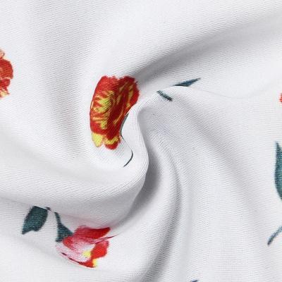 Girly Straps Flower Prints White Two Piece Sexy Bikini Swimsuits_3
