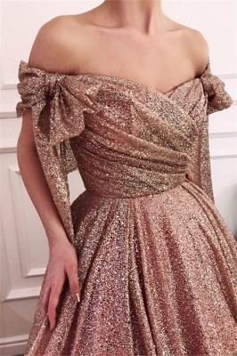 Glamorous Off-The-Shoulder Sequins  Evening Dress_1