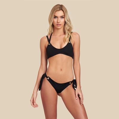 Black Bandage Modern Two Piece Sexy Bikini Swimwear_8