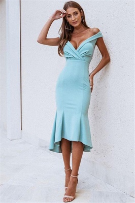 Gorgeous Off-The-Shoulder Sleeveless Mermaid Prom Dress_1