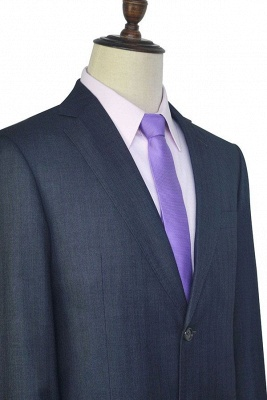 Dark Grey Wool Stripe Two botton Suit For Men | New Arriving Single Breasted Wedding Suit For Groom_6