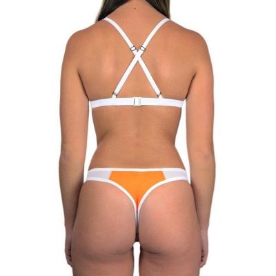 Triangle Pads Colorful Plain Sheer Net Sexy Bikini Sets_26