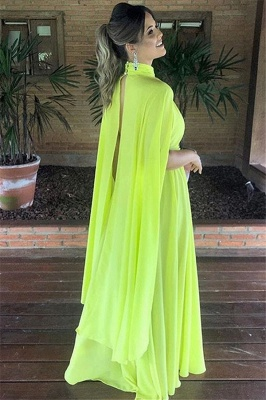 Gorgeous High-Neck A-Line Long Prom Dress_2