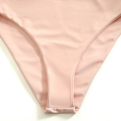 Vintage Nude Pink Knot Straps Two Piece Sexy Bikinis_6