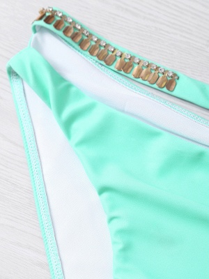 Shell Shaped Gradient Mint Green Sexy Bikini Set_4