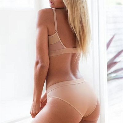 Simple Two Piece Hollow Out Mesh Sexy Bikini Sets_10