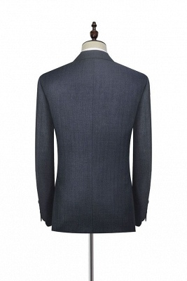 Dark Grey Wool Stripe Two botton Suit For Men | New Arriving Single Breasted Wedding Suit For Groom_4