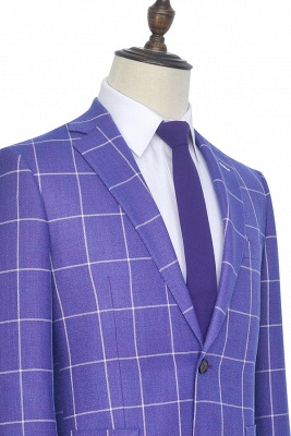 Hot Recommend Violet Purple Two Patch Pockets Custom Suit | Classic Single Breasted Peak Lapel Wedding Tuxedos For Groom_6